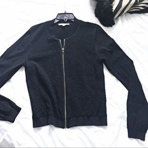 CAbi Black Full Zip Cardigan